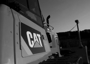 Cat logo on machine