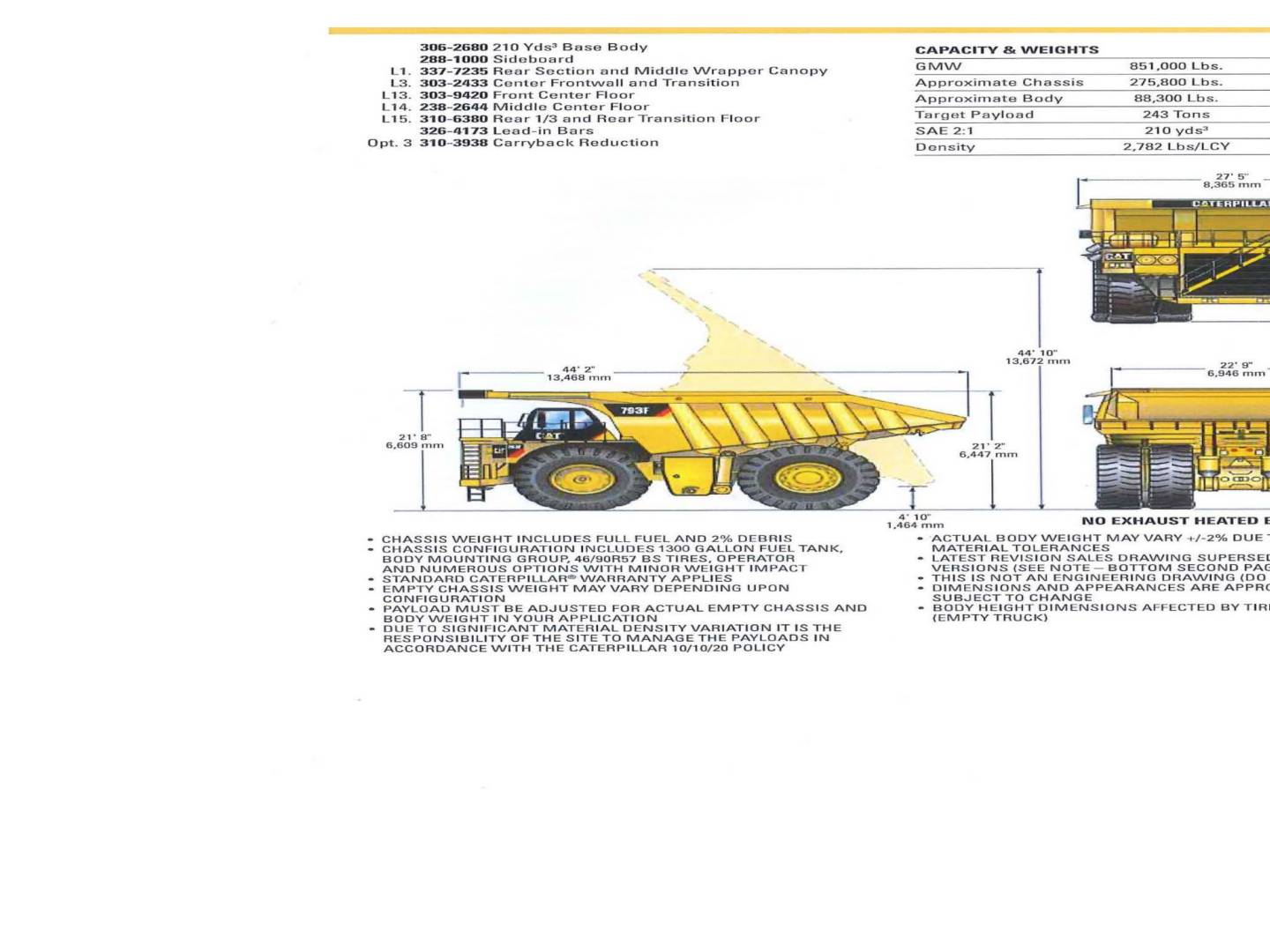 CATERPILLAR 793 TRAYS  Page | Cavpower