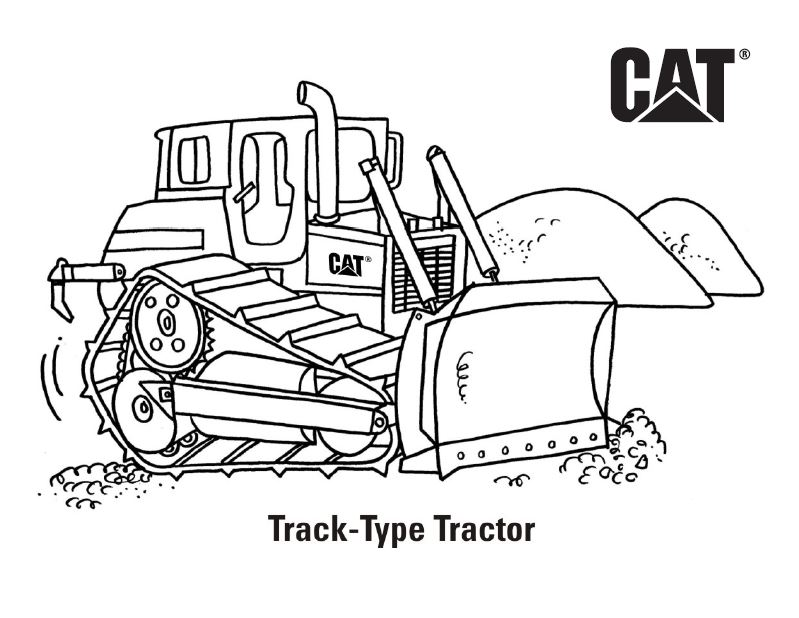 Caterpillar Machines Coloring Pages - GetColoringPages.com | 618x799