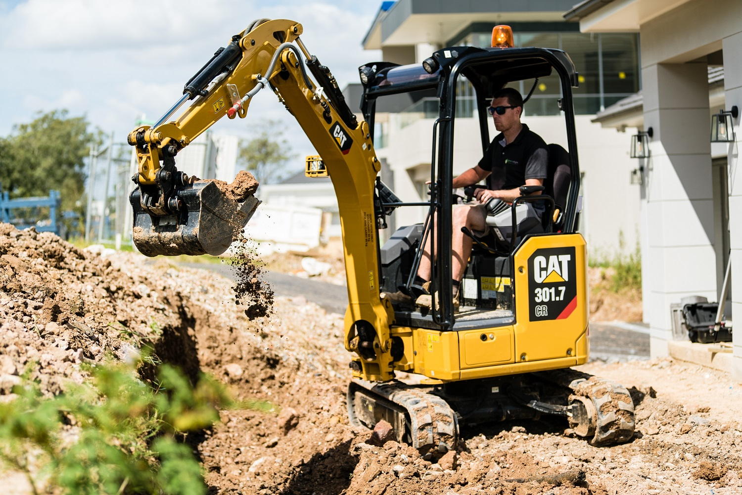 Own a Cat Mini Excavator for less